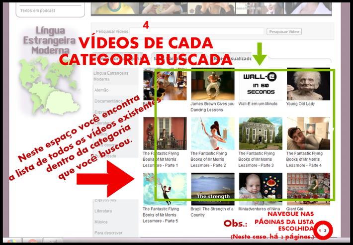 captura lista de vídeos