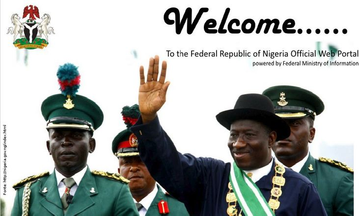 Página do governo da Nigéria