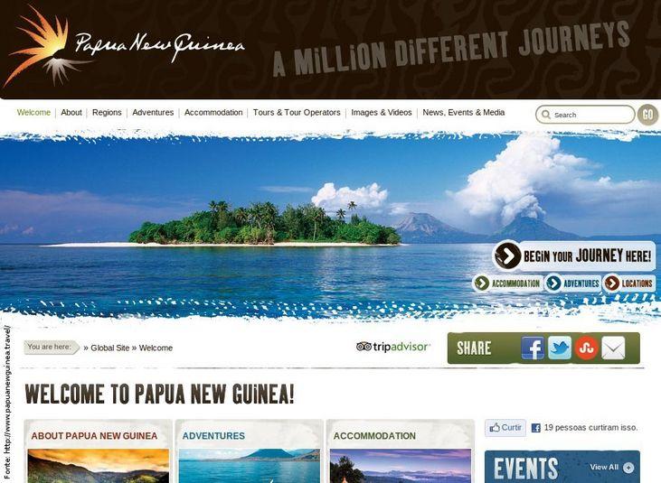Página do governo de Papua Nova Guiné