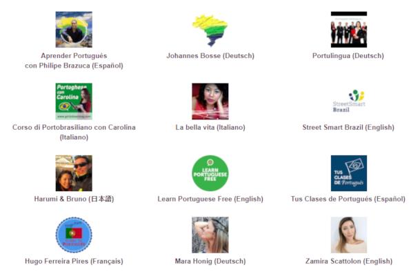 Captura de tela do conteúdo Português para falantes de outras línguas