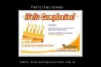 """Esta imagem é um cartão de aniversário enviado por Deremate.com (""""Mercado Livre"""", no Brasil), a um cliente. Palavras-chave: Cumpleaños. Aniversário. Cartão. Internet. Cumprimentos. Felicitaciones."""