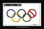 """Nesta charge de Eneko vemos os anéis olímpicos de uma maneira bem original. O último anel, em vermelho, é um sinal de proibição. Seria uma denúncia ao Regime Comunista daquele país? Outro fato a ser analisado é a forma como está escrito o nome do país. Veja abaixo o comentário de um leitor do jornal: """"Muestro mi más profunda protesta ante esta viñeta, pues en Español es PEQUÍN y no Beijing en Inglés. ¿Ó en el resto de olimpiadas dijo usted Athinai, London, New York,...?. Ya puestos, ¿por qué no ponerlo en chino: 北京 ó pinyin: Běijīng? Por lo demás, muy bien."""" Palavras-chave: Charge. Vinheta. Eneko. Esportes. Jogos Olímpicos."""