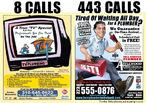 Foto da propaganda de um encanador, disponibilizada em jornal ou revista. Palavras-chave: bombeiro hidráulico, consertos, casa, páginas amarelas, encanador.